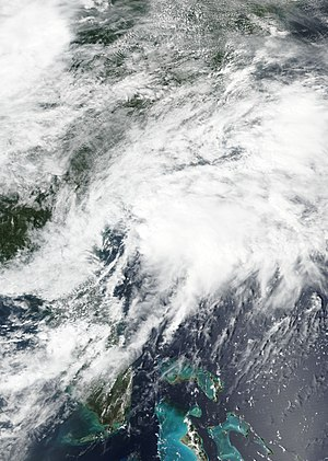 2017 Atlantic hurricane season - Potential Tropical Cyclone Ten near the Carolinas on August 28