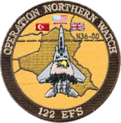 122d Expeditionary Fighter Squadron Operation Northern Watch Patch