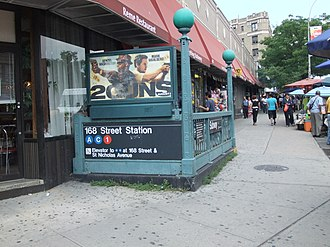 168th Street (New York City Subway) - Entrance at 169th Street.