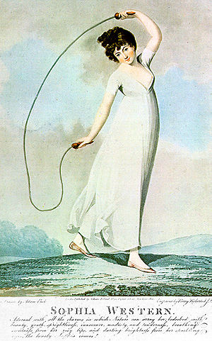 The History of Tom Jones, a Foundling - Image: 1800 jumprope pinup Sophia Western