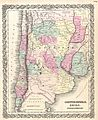 1855 Colton Map of Argentina, Chile, Paraguay and Uruguay - Geographicus - ArgentinaChile-colton-1855.jpg