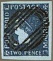 1859 2d deep blue Mauritius Sherwin used Mi6 SG40.jpg