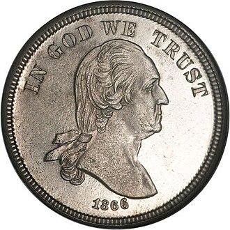 Washington nickel - Image: 1866 5C Five Cents, Judd 470, Pollock 562, Low R.6