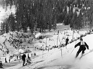 1952 Winter Olympics - Stein Eriksen in the alpine skiing during the Olympics