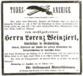 1880-10-28 Todes-Anzeige Lorenz Weinzierl (Ingolstädter Zeitung).png