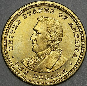 1904 Lewis and Clark dollar reverse
