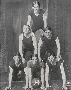 Nebraska Cornhuskers men's basketball - 1904 Nebraska junior basketball team.