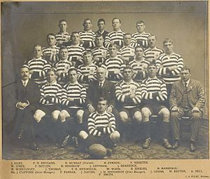 1910 Great Britain Lions tour of Australia and New Zealand - The British team in Brisbane.