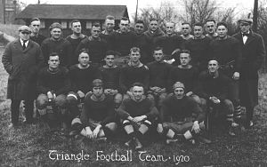 Dayton Triangles - A team photograph of the Dayton Triangles, 1920