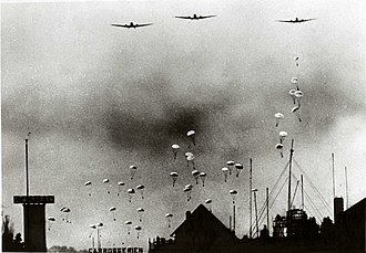 Battle for The Hague - German paratroopers above The Hague