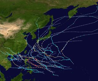 1954 Pacific typhoon season typhoon season in the Pacific Ocean