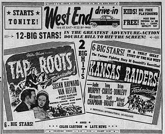 Kansas Raiders - 1956 newspaper advertisement