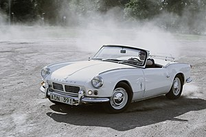 Arvid in his 1965 Triumph Spitfire 4M