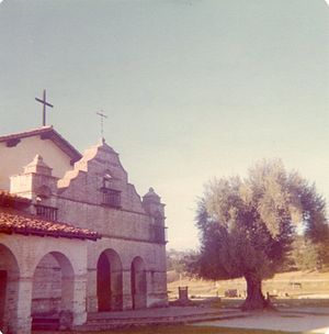 Mission San Antonio de Padua - 1970s view of the mission