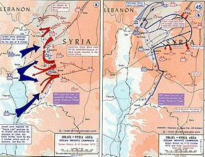 English: Yom Kippur War 1973 on the Golan heights