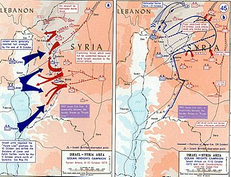 Third Battle of Mount Hermon - Image: 1973 Yom Kippur War Golan heights theater