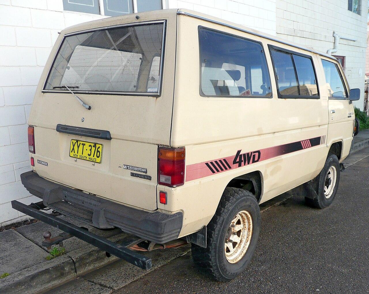 adeac3b986 File 1985 Mitsubishi L300 Express (SD) 4WD van (2009-11-14) 02.jpg ...