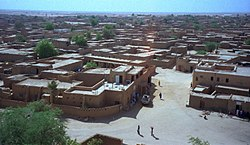 View of Agadez, from mosque's minaret
