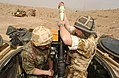 1 RRF engage Iraqi Army positions with their 81mm Mortars. Iraq. 26-03-2003 MOD 45142764.jpg