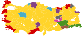 Turkish local elections, 2004 - Image: 2004 Turkish elections