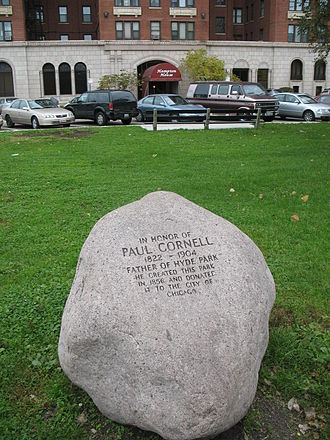 Paul Cornell (lawyer) - Paul Cornell's Stone in front of the Hampton House