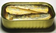 An open Sardines can