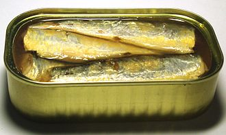 Canned fish - Image: 2006 sardines can open