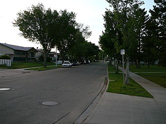 Elmwood, Edmonton - A residential street in Elmwood