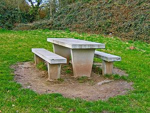 Picnic table - Concrete table, 2008
