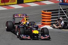 Photo de Sebastian Vettel dans sa monoplace à Monaco.