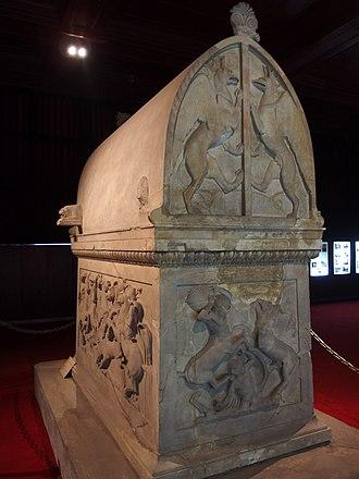 Lycian sarcophagus of Sidon - Image: 20131205 Istanbul 096