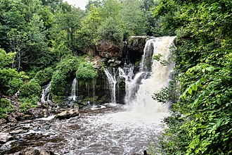 Erie County, New York - View of Akron Falls at Akron Falls Park.