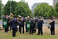 2015-06-20 200 Jahre Schlacht bei Waterloo, Welfenbund, The Royal British Legion, Hannover, Waterloosäule, (13).JPG