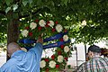 2015 Law Enforcement Explorers Conference hoisting the wreath.jpg