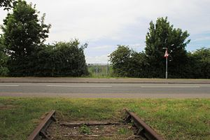 Portishead Railway - The railway station at Portishead will be built where the old route has been severed by this new road