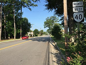 Virginia State Route 40 - View west along SR 40 Bus in Stony Creek