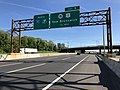 2018-05-21 08 42 04 View north along Interstate 95 (New Jersey Turnpike) just south of Exit 9 (New Jersey State Route 18, U.S. Route 1, New Brunswick) in East Brunswick Township, Middlesex County, New Jersey.jpg