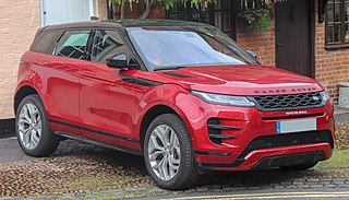 Range Rover Evoque series of compact SUV models from Land Rover