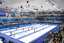 Inside view of Gangneung Curling Centre