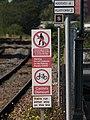 2019 at Bedminster station - warning signs.JPG