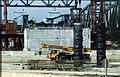 207R28270492 Bereich Nordbahnbrücke, Bau der Trasse für die U Bahn Linie U6, Nordbahnbrücke Ostseite, Donauinsel Blick Richtung Süden.jpg
