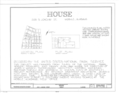 208 South Joachim Street (House), Mobile, Mobile County, AL HABS ALA,49-MOBI,120- (sheet 1 of 6).png