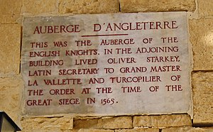 Auberge d'Angleterre - Plaque on the auberge