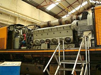 EMD 710 - An EMD 12-710G3B engine, installed in an Iarnród Éireann 201 class locomotive