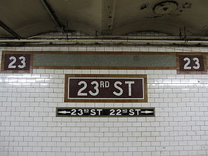 23rd Street (IRT Lexington Avenue Line) - Image: 23 Street IRT 002