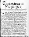 24-Jan-1772 Temeswarer Nachrichten (Timisoara Times).jpg