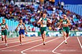 301000 - Athletics track 200m T38 Lisa McIntosh wins gold - 3b - 2000 Sydney race photo.jpg