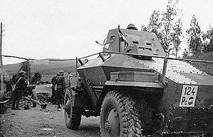 39M Csaba - Rear view of a 39M Csaba, showing the reverse, driving position