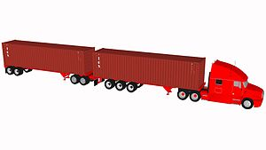 Long combination vehicle - 40 foot container turnpike doubles – 148,000 lbs GVWR