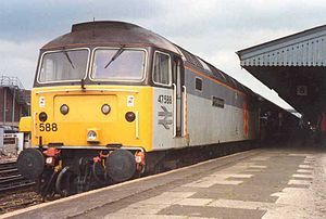 Trainload Freight - Image: 47588 2tone RF livery